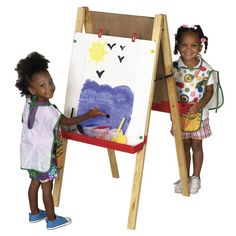 ECR4KIDS Adjustable 2 Sided Childrens Floor Easel - ELR-008