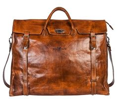 Zeha Berlin - Vintage Leather Weekender Handcrafted & made in Europe!
