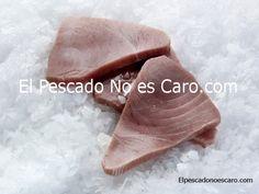 Rodajas de atún del Atlántico Norte. (3-4 rodajas/kg)    Se sirve en bolsas de 1 Kg. El producto está limpio y listo para cocinar.  Producto salvaje, ultracongelado en el momento de captura.     Es uno de los pescados más consumidos en todo el mundo y que contiene grandes cantidades de ácidos grasos omega 3 y es considerado saludable y bueno para el corazón. Su sabor es único y muy valorado en gastronomía.