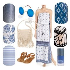 """Summer Jamberry pairings"" by krystin-rowley on Polyvore featuring beauty, Tommy Bahama, Hindsight Vintage, Billabong, Butterfly Dream, Summer, nailart and Beauty"