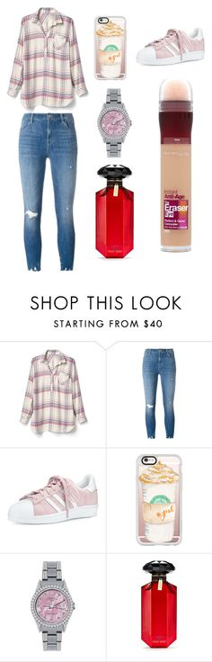 """Sans titre #3823"" by merveille67120 ❤ liked on Polyvore featuring Gap, J Brand, adidas, Casetify, Rolex, Victoria's Secret and Maybelline"