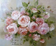 English roses by Russian artist, Oksana Kravchenko Russia, Novouralsk Oil Painting Flowers, Abstract Flowers, Watercolor Flowers, 2 Clipart, Still Life Flowers, Floral Embroidery Patterns, Painted Cottage, Rose Art, Beautiful Paintings