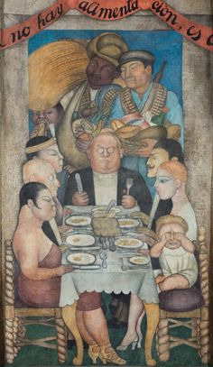 Diego Rivera: The Capitalist's Dinner, from Ballad of the Proletarian Revolution, 1928-1929