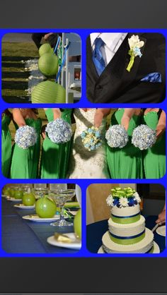 Our blue and green wedding :-)