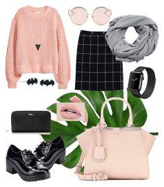 """SCHOOL"" by kate-n-0000 on Polyvore featuring мода, ESCADA, Jacobies, Fendi, Furla, N°21, MANGO и Lana"