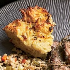 Kugel is a baked pudding, usually made with noodles or potatoes. This version, prepared with shredded potatoes and fried shallots, is crispy at the ed...