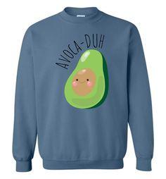 AVOCADUH - Bella Canvas Unisex Avocado Graphic Sweatshirt