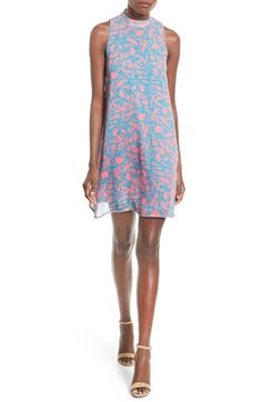 Everly Paisley Print High Neck Shift Dress available at #Nordstrom