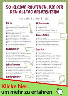 Start immediately with these 50 small routines in the household. Learn all the details in the online course from the Household Fairy. # household # routines # household foodInformations About Wie du von Haushaltsfee profitieren kannst PinYou can easi