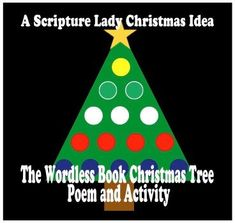 Enjoy this Wordless Book Christmas tree poem and activity during your holiday time with your children that shares the true meaning of Christmas. Christmas Tree Poem, Christmas Program, True Meaning Of Christmas, Christmas Ideas, Wordless Book, Bible Object Lessons, Happy Birthday Jesus, Holiday Time, Poems