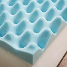 Slumber Solutions Gel Big Bump 3-inch Memory Foam Mattress Topper with Cover