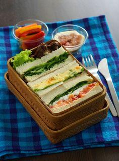 サンドイッチ弁当 - sandwiches  bento style