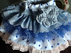 Artículos similares a Chanuka Denim and lace blue and white ruffled vintage skirt by Rosanna Hope for Babybonbons en EtsySpring, Easter Sunday denim and vintage lace girls skirt skirt, vintage lace large flower pin/broochShabby Chic Knit long sleeve Lace Ruffle, Ruffle Skirt, Vintage Skirt, Vintage Lace, Little Girl Dresses, Girls Dresses, Denim And Lace, Little Fashionista, Baby Sewing