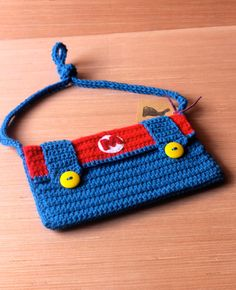 Super Mario inspired Crochet Purse by downtherabbitholeSH on Etsy, $15.00