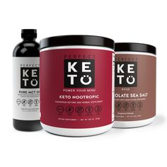 The Brain Bundle - Perfect Keto Ketone Supplement, Keto Drink, Healthy Aging, Healthy Tips, Mct Oil, Diets For Beginners, Snacks, Ketogenic Diet, Weight Loss