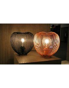 Lamp metaaldraad zwart of koper