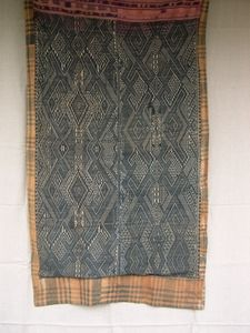 Reference : 6C015 Name : Lao Indigo Dyed Baby Wrapper Category : Antique Origins : Laos Ethnic Group :  Techniques : Handwoven Materia...