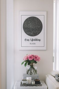 Wall Frame Gallery Update: Modern Map Art - Stripes and Vibes Map Art, Interior Design Inspiration, Frames On Wall, Our Wedding, Frame Gallery, Modern, Roses, Stripes, Home Decor
