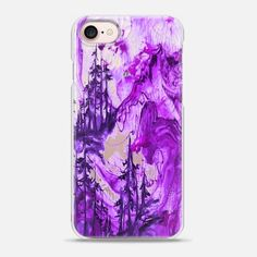 IF A TREE FALLS, PURPLE Bold Colorful Forest Abstract Watercolor Painting Nature Wanderlust Outdoors Mountains Ebi Emporium - Snap Case #Casetify @Casetify #CasetifyArtist #EbiEmporium #iPhoneCase #mountains #trees #forest #nature #wanderlust #transparent #clearcase #iPhone6 #iPhone7 #iPhone8 #iPhoneX #Samsung #outdoors #watercolor #colorful #purple #lavender #plum