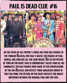 The height difference is a huge issue -- study the pics, Paul is considerably taller from Sgt. Peppers on......