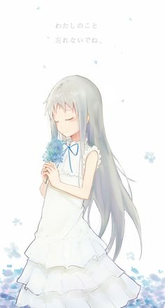 Ano Hi Mita Hana no Namae o Bokutachi wa Mada Shiranai. (We Still Don't Know The Name Of The Flower We Saw That Day) - Zerochan Anime Image Board Manga Anime, Art Manga, Sad Anime, Kawaii Anime, Anime Art, Girls Anime, Manga Girl, Menma Anohana, Desu Desu
