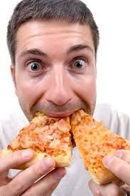 Image result for images of people eating pizza