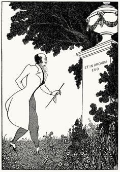Et in Arcadia ego. Aubrey Beardsley, from The Savoy vol 3, London, 1896. (Source: archive.org)