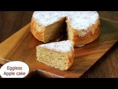 Eggless apple cake - moist, delicious, & soft egg free apple cake made with pureed apples. Recipe with video & step wise pictures. Eggless Apple Cake Recipe, Gluten Free Apple Cake, Healthy Apple Cake, Vegan Apple Cake, Moist Apple Cake, Easy Apple Cake, Fresh Apple Cake, Eggless Recipes, Vegan Recipes