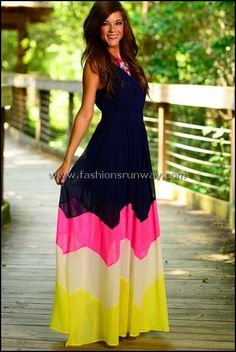 SheIn offers Navy Yellow Sleeveless Color Block Maxi Dress & more to fit your fashionable needs. Pretty Dresses, Beautiful Dresses, Dress Skirt, Dress Up, Wrap Dress, Casual Dresses, Summer Dresses, Maxi Dresses, Maxi Outfits