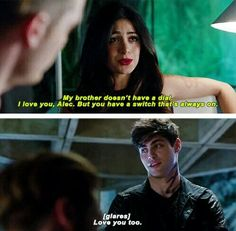 Isabelle Lightwood and Alec Lightwood #shadowhunters