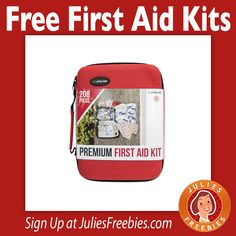 Facebook Twitter PinterestHere is a few offers where you can sign up for FREE First Aid Kits. Some of these are limited by geographic reason. Carolina Healthcare Systems Wellington Regional – Palm Beach County Residents Only George Washington University Hospital – DC metro residents Only