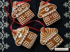 Christmas decorations Honey gingerbread Production and sale - Deco noel Easy Christmas Cookie Recipes, Christmas Desserts, Holiday Treats, Christmas Treats, Christmas Baking, Christmas Decorations, Crazy Cookies, Gingerbread Cookies, Christmas Cookies