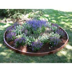 Frame It All 1-inch Series Composite Circle Raised Garden Bed Kit - 10.5ft. diam. X 5.5H in.   from hayneedle.com
