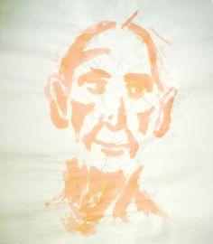 Exploit artistique 4 - acrylique sur papier boucher, pose de 3/5 minutes.