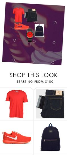"""""""red hot"""" by jayonstewart-js on Polyvore featuring Maison Margiela, PS Paul Smith, NIKE, STATE Bags, Q&Q, men's fashion and menswear"""