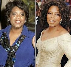 Oprah Winfrey Nose Job.. maybe.. but def a professional makeup artist
