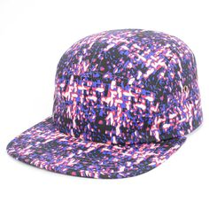 PURPLE  5 Panel Snapback Hats Camouflage Cap Hat Fashion Men Women Adjustable Baseball Caps Casual Snap Back Hat