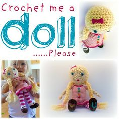 Free pattern crochet a doll - Cute!