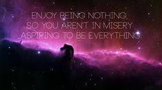 Being nothing.