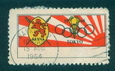 Kenya -Tokyo Olympics 1964 1st Day Cover