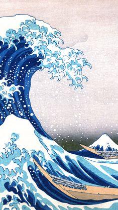 The Great Wave Off Kanagawa Painting iPhone 5 Wallpaper