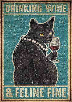 Crazy Cat Lady, Crazy Cats, I Love Cats, Cool Cats, Black Cat Art, Black Cats, Gatos Cats, Cat Posters, Cat Quotes