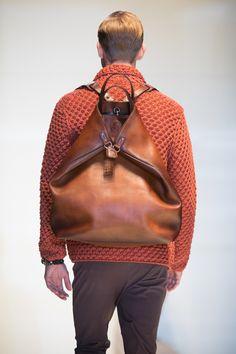 Ok, so it's not a handbag, it's just a FABULOUS bag. Gucci Men's Spring/Summer 2014 Runway Show