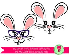 Bunny Rabbit Face Easter SVG / DXF Cutting Files For Cricut