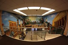 Virginia Commonwealth University - Richmond, VA, United States. Cabell Library mural.