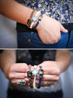 DIY: jewel macrame bracelets  Note: Will make great Gifts; also pinned to Macrame & DIY Knotting Boards