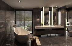 Steam Showers Bathroom, Bathroom Spa, Bathroom Toilets, Washroom, Modern Luxury Bathroom, Beautiful Bathrooms, Small Bathtub, Modern Interior Design, Bathroom Inspiration