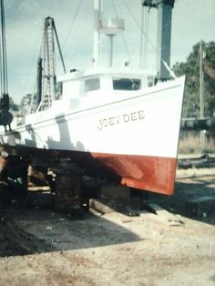 """""""Joey Dee"""" ..my grandfathers Chesapeake bay deadrise. This boat was later destroyed by a trawler that broke its steering link"""