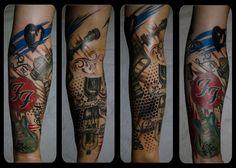 Foo Fighter Tattoo sleeve