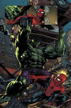 Hulk vs. Spider-Man by David Finch